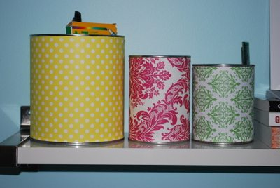 tin can storage idea