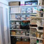 organizing a basement nook