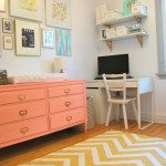 A pink + gold nursery makeover