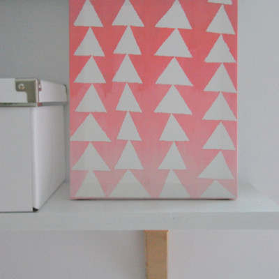 an ombre triangle canvas
