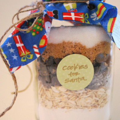 mason jar cookies - gift idea!