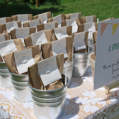 baby shower planters favours