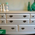 painting a two-tone buffet