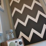 DIY artwork: paint a chevron canvas
