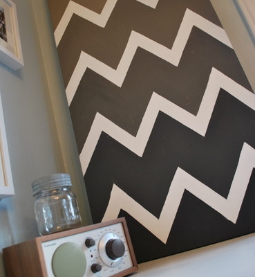 paint a chevron canvas