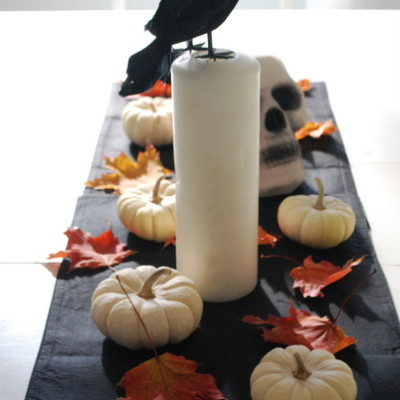 hallowe'en tablescape