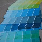 wedding project: a paint chip seating chart