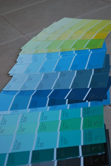 wedding project a paint chip seating chart