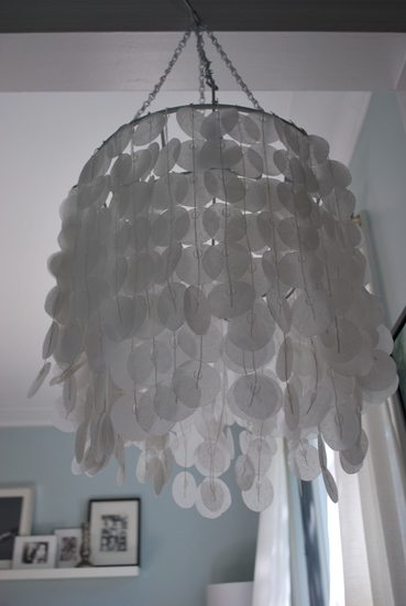 How to make a faux capiz chandelier the sweetest digs how to make a faux capiz chandelier aloadofball Images