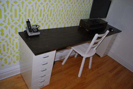 Making A Diy Office Desk Out Of Wood The Sweetest Digs