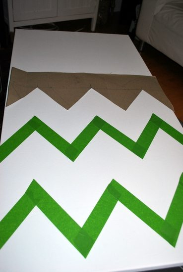 How to Make a DIY Chevron Canvas