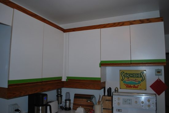 Paint Ugly Oak Strip Cabinetry
