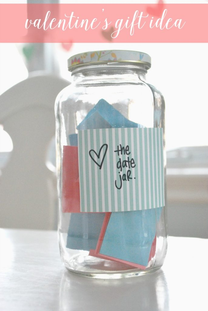 Looking for a no-cost DIY valentine's gift idea? How about this sweet date ideas jar - fill it with fun and romantic date ideas that you and your partner will love for the next year to come!