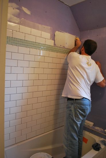 project bathroom: tiling - the sweetest digs