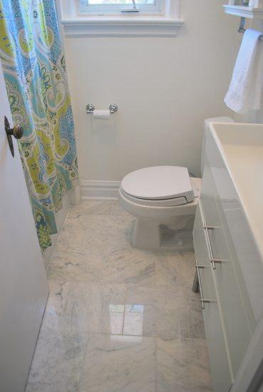 Choosing Faux Carrara Marble Floor Tile For The Bathroom The Sweetest Digs