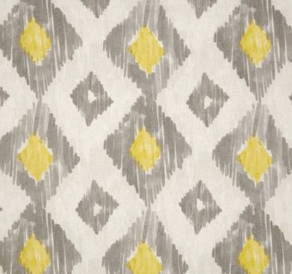 richloom fabric - gray and yellow