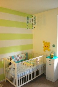 bright green and turquoise nursery