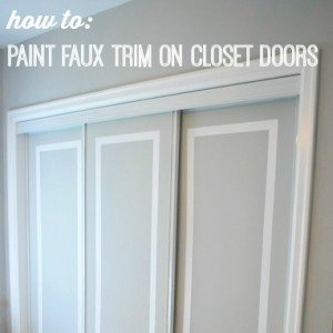 painted trim on closet doors-feature