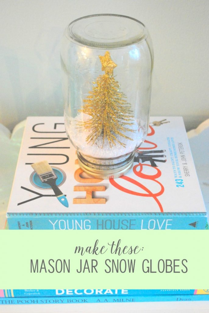 DIY mason jar snow globes - a cute and easy christmas craft