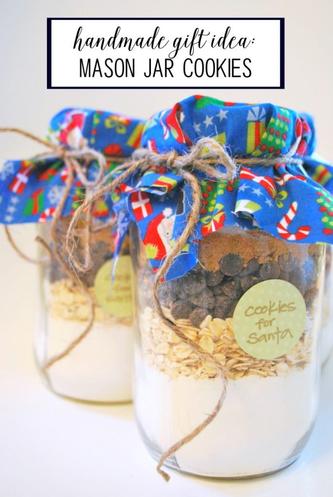 mason jar christmas cookies - an easy and budget friendly handmade gift idea
