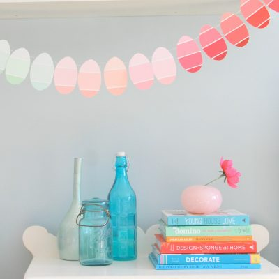 DIY Easter Egg Garland made with Paint Chips