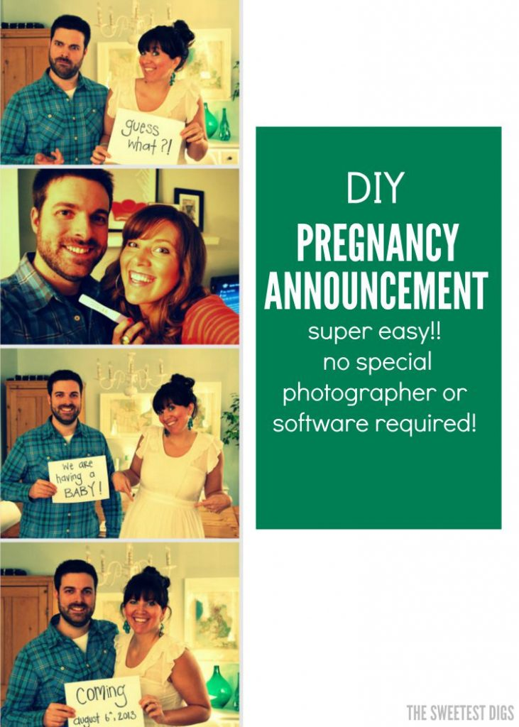 pregnancy announcement ideas howto DIY a photostrip the – Photo Booth Baby Announcement