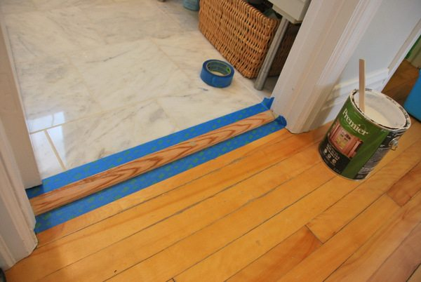 The Diy Files Installing A Floor Transition The