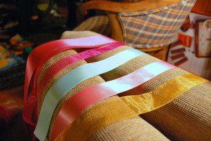 the nursery: a DIY ribbon garland
