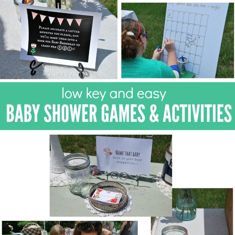 low key baby shower games and activities the sweetest digs