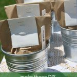 DIY plant seed baby shower favors