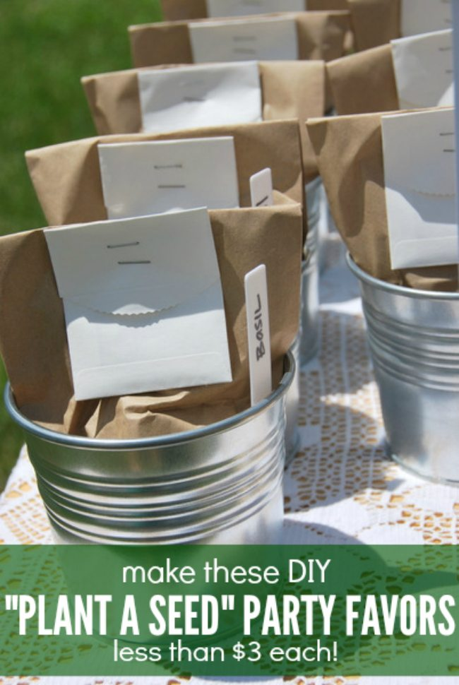 plant a seed DIY party favors - via the sweetest digs