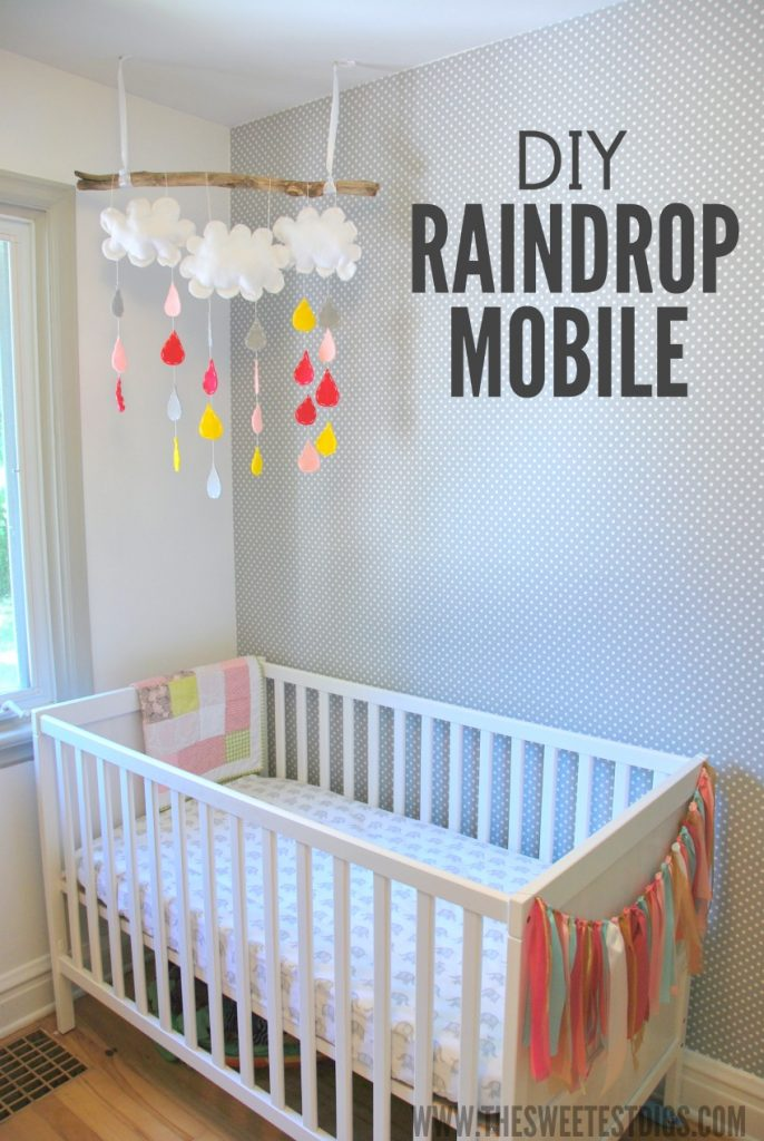 project nursery a diy raindrop mobile the sweetest digs