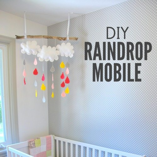DIY raindrop mobile - square