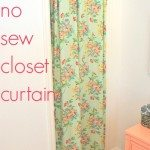 project nursery: a no-sew closet curtain