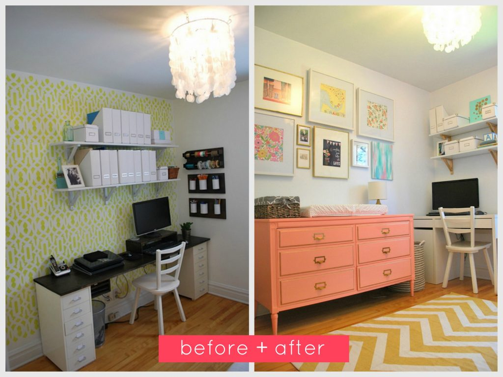 nursery- before and after collage2