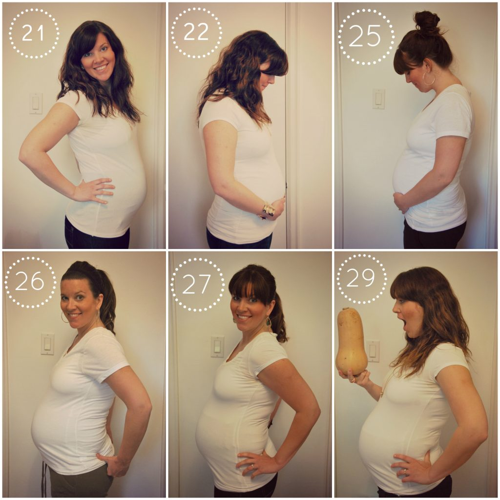 pregnancy collage - weeks 21 to 29