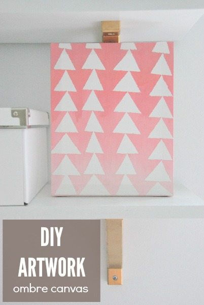 DIY triangle ombre artwork idea - via the sweetest digs