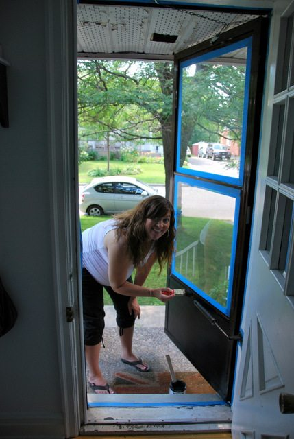 The Diy Files Painting A Screen Door Sweetest Digs