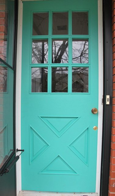 How To Paint Your Front Door The Most Beautiful Turquoise