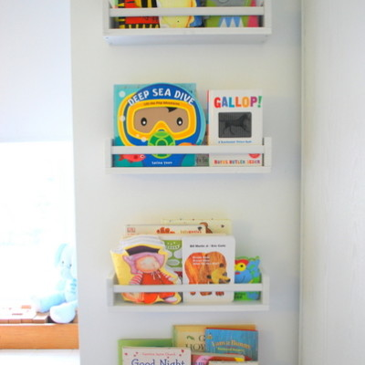 IKEA spice rack bookshelves