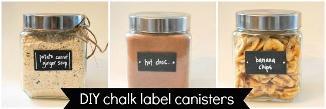 DIY chalk label canisters - the sweetest digs