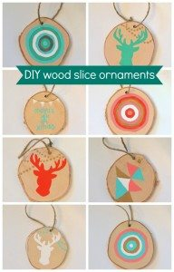 DIY wood slice ornaments - the sweetest digs