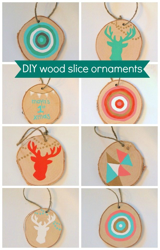 How to make these easy DIY wood slice christmas ornaments