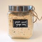 DIY gift idea: chalk label canisters