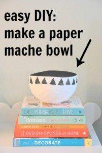 a craft basic: a paper mache bowl