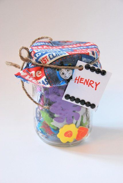 kids gift idea in a mason jar