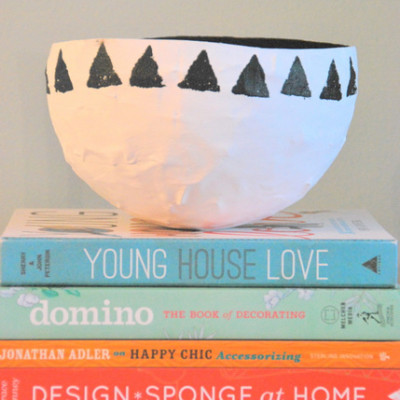 make a papier mache bowl
