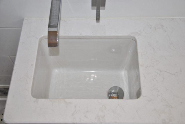 drop in porceline sink