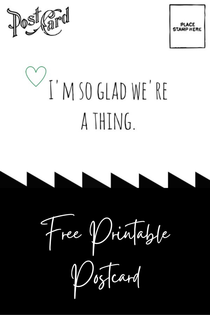 Collage image of valentine's postcard