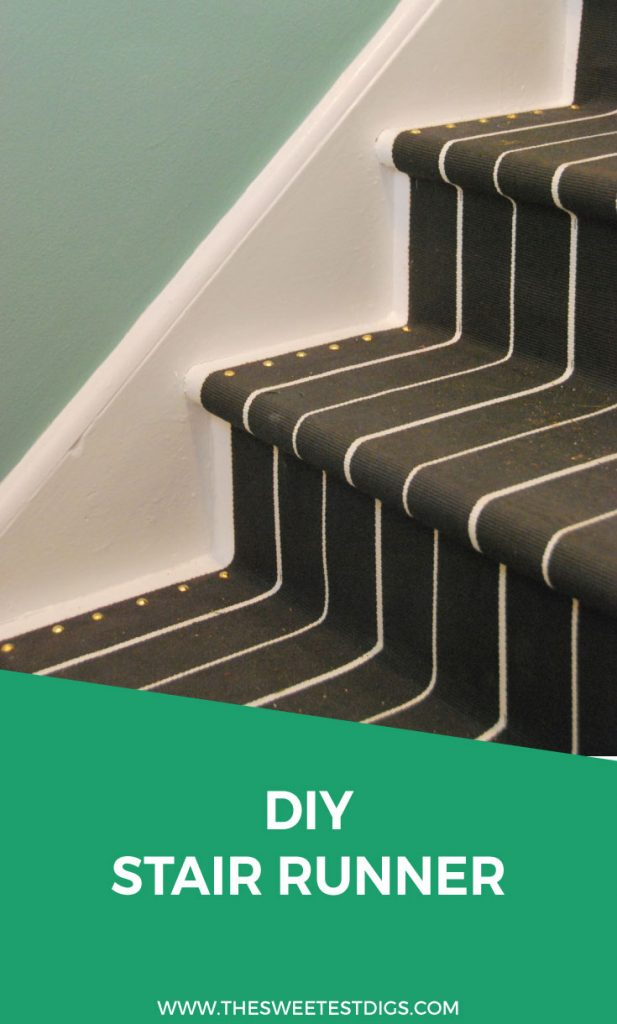 Install Your Own DIY Stair Runner Using These IKEA Throw Rugs! Super  Affordable And Easy